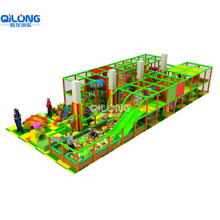 Children commercial indoor playground equipment for kids with 122sqm