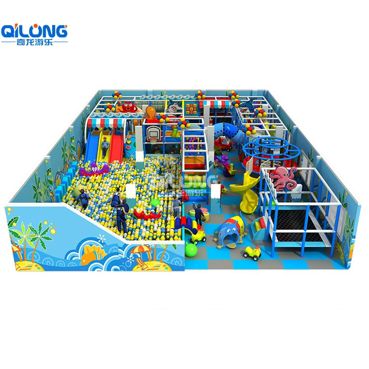 indoor playground with a big ball poor and 264sqm