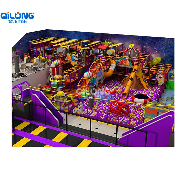 Big Play Playground Equipment With Trampoline For Kids with 1505sqm