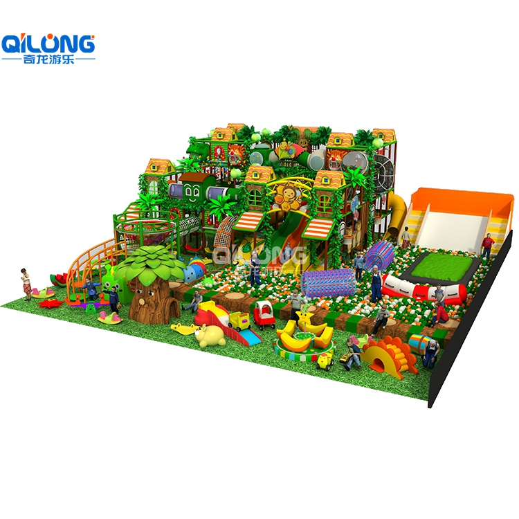 2019 Children Playground Equipment Nice Look With 369sqm