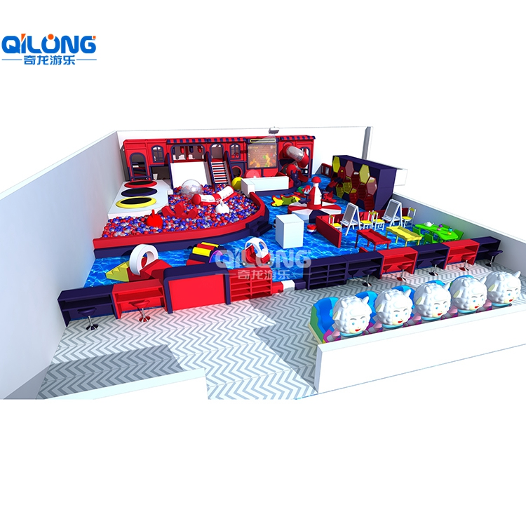Popular Indoor Playground With a Big Ballpoor and Slide