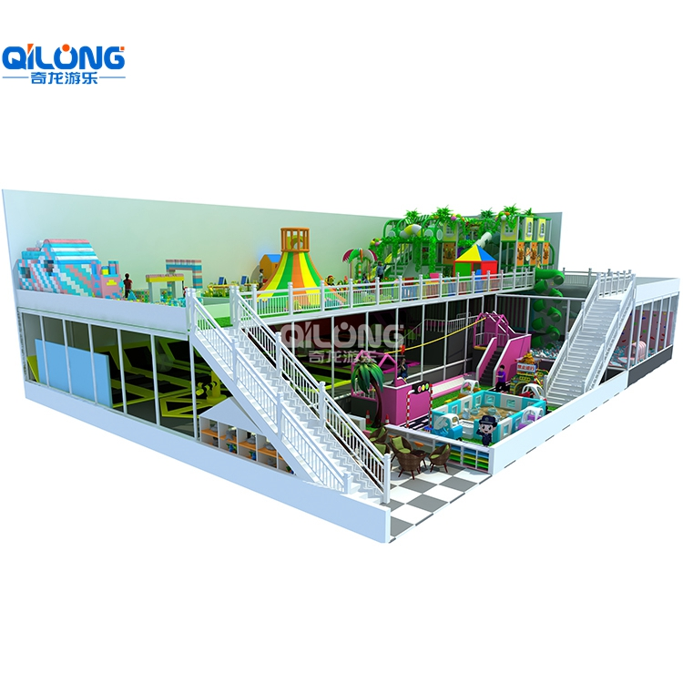 Two Tier Indoor Playground And Big Area For Kids