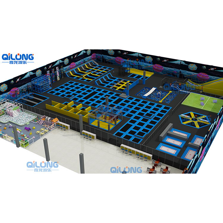 indoor amusement jump park equipment soft trampoline