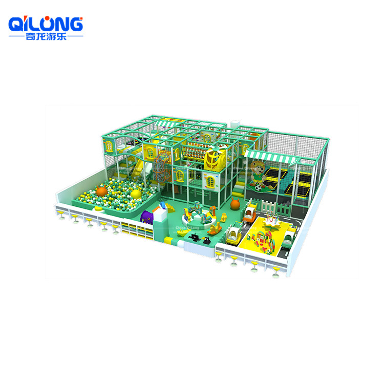 small Indoor playground colorfull theme for kids