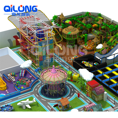 Large Complex  Indoor Amusement Park with Rope Course