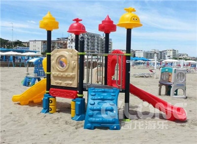 What are the characteristics of children's outdoor combined slides?